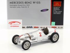 Hermann Lang #2 Mercedes Benz W125 Donington GP Formula 1 1937 1:18 CMC