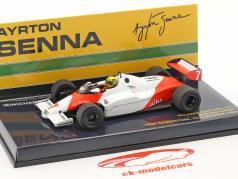 Ayrton Senna McLaren MP4/1C #7 test voiture Silverstone 1983 1:43 Minichamps