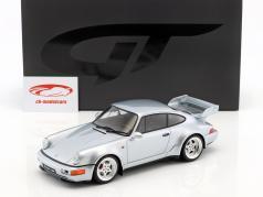 Porsche 911 (964) Carrera RS 3.8 year 1990 polar silver 1:18 GT-Spirit