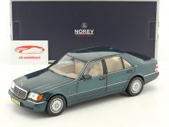 Mercedes-Benz S600 W140 anno di costruzione 1997 verde metallico 1:18 Norev