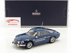 Alpine Renault A110 1600S Gendarmerie 建造年份 1971 蓝 1:18 Norev