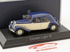 Citroen Light 15 year 1949 dark blue / cream White 1:43 Norev