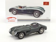 Jaguar C-Type ano de construção 1952-1953 British Racing verde 1:18 CMC