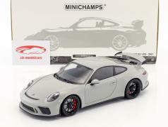Porsche 911 (991 II) GT3 year 2017 chalk gray 1:18 Minichamps