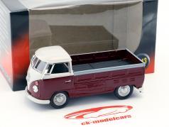 Volkswagen VW T1 Pick Up Opførselsår 1960 lilla / hvid 1:43 Cararama
