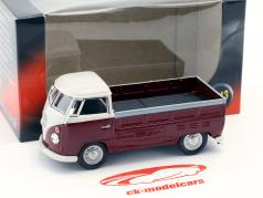 Volkswagen VW T1 Pick Up year 1960 dark red / white 1:43 Cararama