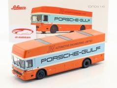 Mercedes-Benz O 317 Porsche Gulf race vrachtwagen Bouwjaar 1968 1:43 Schuco