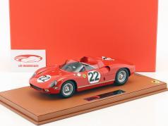 Ferrari 250 P #22 3e 24h LeMans 1963 Parkes, Maglioli met vitrine 1:18 BBR