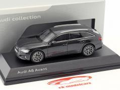 Audi A6 Avant C8 año de construcción 2018 gris vesuv 1:43 iScale