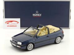 Volkswagen VW Golf 3 Cabriolet Opførselsår 1995 mørkeblå metallisk 1:18 Norev