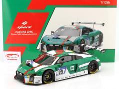 Audi R8 LMS #29 winnaar 24h Nürburgring 2017 De Phillippi, Mies, Winkelhock, Van der Linde 1:12 Spark