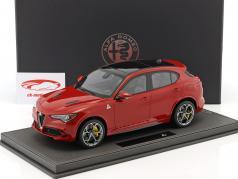 Alfa Romeo Stelvio Quadrifoglio année de construction 2016 Alfa rouge 1:18 BBR