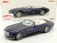Mercedes-Benz Maybach 6 cabriolé azul 1:18 Schuco