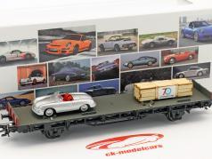 vagão com crate & Porsche 356 Roadster 70 anos carros esportivos da Porsche conjunto Não. 1 1:87 Märklin