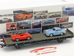 vagón con Porsche 356A & Porsche 550 Spyder 70 años coches deportivos Porsche conjunto No. 2 1:87 Märklin