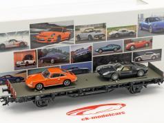 vagón con Porsche 911 & Porsche 904 GTS 70 años coches deportivos Porsche conjunto No. 3 1:87 Märklin