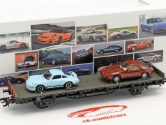 vagão com Porsche 911 RS 2.7 & Porsche 928 70 anos carros esportivos da Porsche conjunto Não. 4 1972 1:87 Märklin