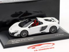McLaren 675LT Spider silica blanco 1:43 Minichamps