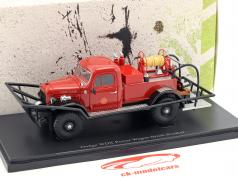 Dodge WDX Power Wagon Brush Breaker fire Department year 1946 red 1:43 AutoCult