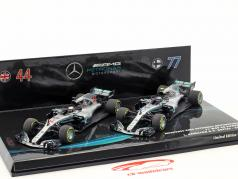 Hamilton #44 & Bottas #77 2-Car Set Mercedes-AMG F1 W09 formule 1 2018 1:43 Minichamps