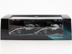 Hamilton #44 & Bottas #77 2-Car Set Mercedes-AMG F1 W09 formula 1 2018 1:43 Minichamps