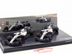 Stroll #18 & Sirotkin #35 2-Car Set Williams FW41 formule 1 2018 1:43 Minichamps