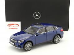 Mercedes-Benz GLC Coupe (C253) Baujahr 2016 brilliant blau 1:18 iScale