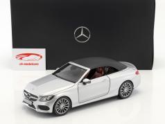 Mercedes-Benz C-Klasse Cabriolet (A205) iridiumsilber 1:18 iScale