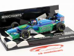 Jos Verstappen Benetton B194 #6 First Podium / 3e Hongaars GP formule 1 1994 1:43 Minichamps