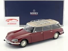 Citroen Break 21 Bouwjaar 1970 bordeaux rood / beige  1:18 Norev