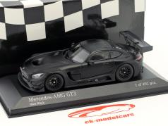 Mercedes-Benz AMG GT3 Plain Body Version year 2017 matt black 1:43 Minichamps