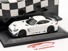 Mercedes-Benz AMG GT3 Plain Body Version año de construcción 2017 blanco 1:43 Minichamps