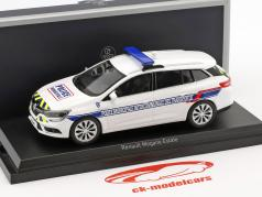 Renault Megane Estate Police Municipale Intercommunale Bouwjaar 2016 wit 1:43 Norev