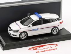 Renault Megane Estate Douane year 2016 White 1:43 Norev