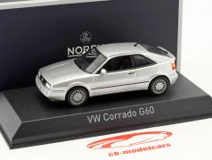 Volkswagen VW Corrado G60 année de construction 1990 argent métallique 1:43 Norev
