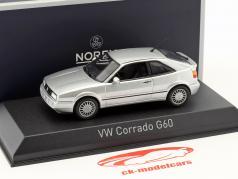 Volkswagen VW Corrado G60 year 1990 silver metallic 1:43 Norev