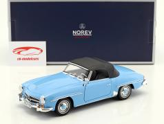 Mercedes-Benz 190 SL Bouwjaar 1955 blauw 1:18 Norev