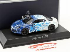 Renault Alpine A110 Construction year 2017 Test Version blue / white 1:43 Norev