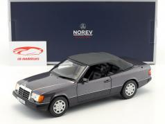 Mercedes-Benz 300 CE-24 Cabriolet Bouwjaar 1990 violet metalen 1:18 Norev