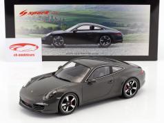 Porsche 911 (991) 50 ° anniversario edizione 2013 grafite grigio 1:18 Spark