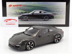 Porsche 911 (991) 50th Anniversary Edition 2013 graphite grau 1:18 Spark
