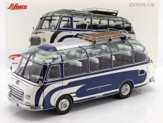 Setra S6 Bus Bouwjaar 1956 blauw / wit 1:18 Schuco