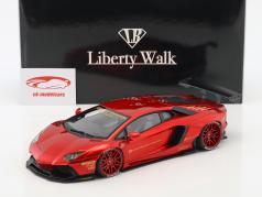 Lamborghini Aventador Liberty Walk LB-Works year 2015 red metallic 1:18 AUTOart