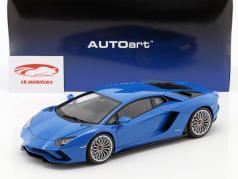 Lamborghini Aventador S año de construcción 2017 perl azul 1:18 AUTOart