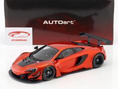 McLaren 650S GT3 ano de construção 2017 vulcão laranja / preto 1:18 AUTOart