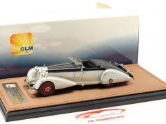 Mercedes-Benz 540K Spezial Roadster Mayfair Bouwjaar 1937 zilver / zwart 1:43 GLM