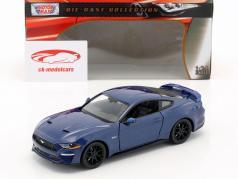 Ford Mustang GT 5.0 V8 ano de construção 2018 azul metálico 1:24 MotorMax
