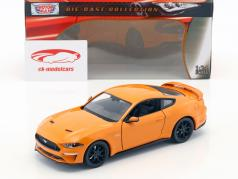 Ford Mustang GT 5.0 V8 ano de construção 2018 laranja 1:24 MotorMax