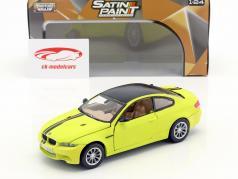 BMW M3 E92 Coupe año de construcción 2008 aburrido neón amarillo 1:24 MotorMax