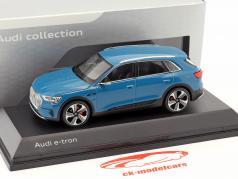 Audi e-tron Opførselsår 2018 Antigua Blå 1:43 Spark